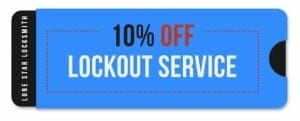 10% off - lockout services